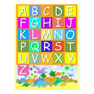Leer uw ABC met het Alfabet van Dinosaurussen Briefkaart