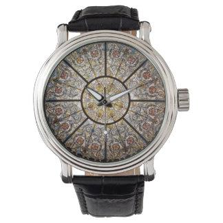 Leer van de Douane van het gebrandschilderd glas Horloges