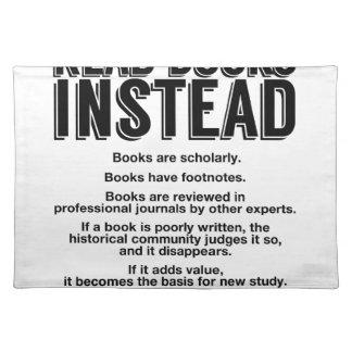 Lees Boeken in plaats daarvan, maak Feiten Placemat