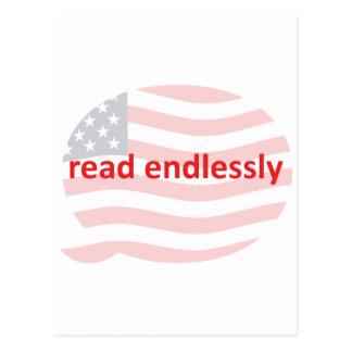 Lees eindeloos briefkaart