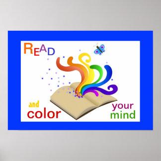 Lees en kleur Uw Poster van de Geletterdheid van d