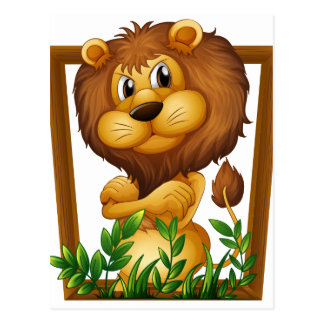 Leeuw Briefkaart