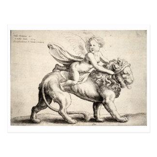 leeuw en cherubijn briefkaart