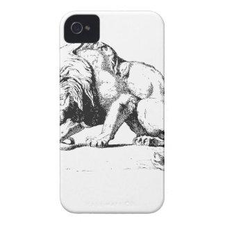 Leeuw en het Serpent iPhone 4 Hoesje