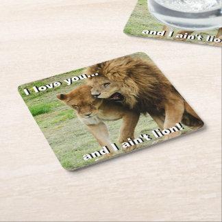 Leeuw en Leeuwin Vierkante Onderzetter