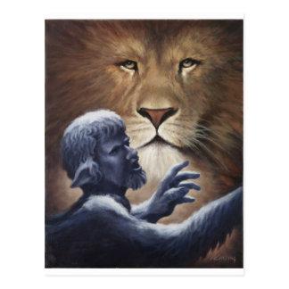 Leeuw en Standbeeld Briefkaart