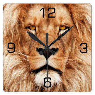 Leeuw Het Schilderen van de Foto van de Koning Vierkante Klok