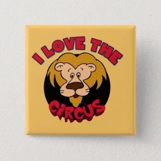 Leeuw I Liefde de de T-shirts en Giften van het Vierkante Button 5,1 Cm