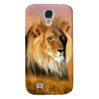 Leeuw van fractal van Zuid-Afrika art. Galaxy S4 Hoesje