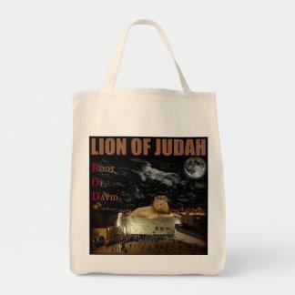 Leeuw van Judah op de Westerne Muur Boodschappen Draagtas