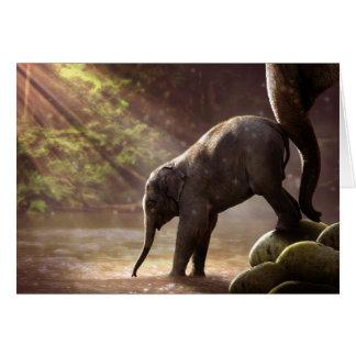 Lege Kaart van het Bad van de Olifant van het baby