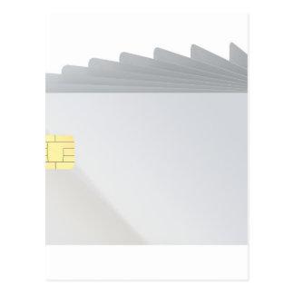 Lege plastic kaarten met spaander