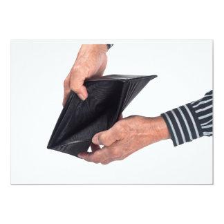 Lege portefeuille 12,7x17,8 uitnodiging kaart