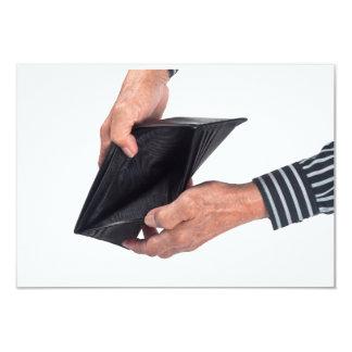 Lege portefeuille 8,9x12,7 uitnodiging kaart