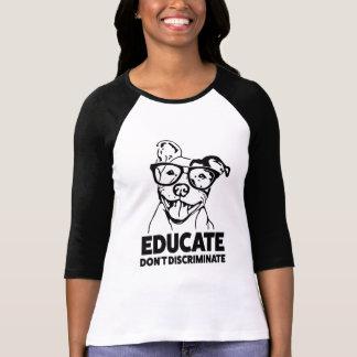 Leid onderscheiden geen Grappig overhemd Pitbull T Shirt