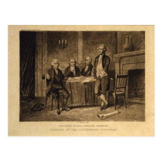 Leiders van het Continentale Congres door A. Briefkaart
