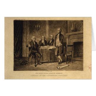 Leiders van het Continentale Congres door A. Briefkaarten 0