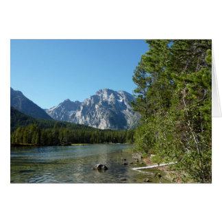 Leigh Lake bij het Nationale Park van Grand Teton Kaart