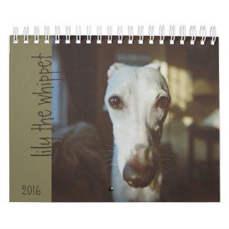 Lelie de Kalender 2016 van de Whippet