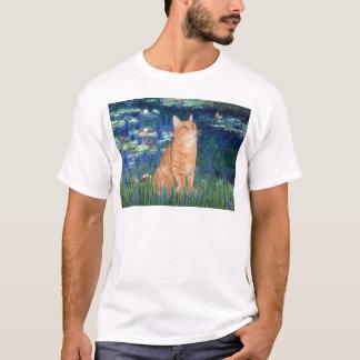 Lelies 5 - SH kat 46 van de Oranje Gestreepte kat T Shirt
