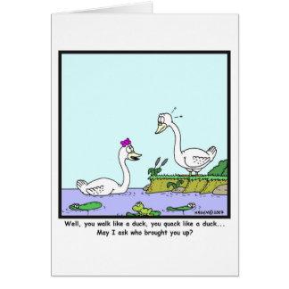 Lelijk eendje: De cartoon van de zwaan Kaart
