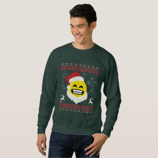 Lelijke Kerstmis van Emoji TIshirt van de Glimlach Trui
