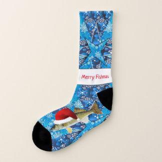 Lelijke Kerstmis van snoekbaarzen Sokken