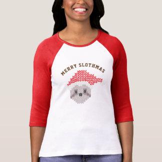 Lelijke Raglan Slothmas 3/4 van de Luiaard van de T Shirt