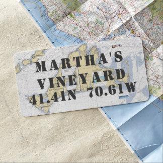 Lengte van de Breedte van het Martha's Vineyard de Nummerplaat