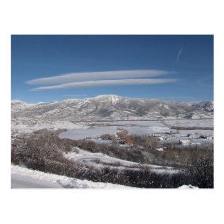 Lenticular Wolken Briefkaart