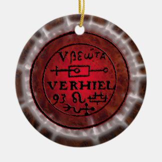 leo sigil rond keramisch ornament