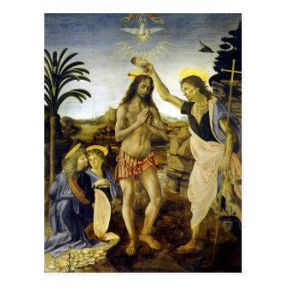 Leonardo da Vinci het Doopsel van Christus Briefkaart