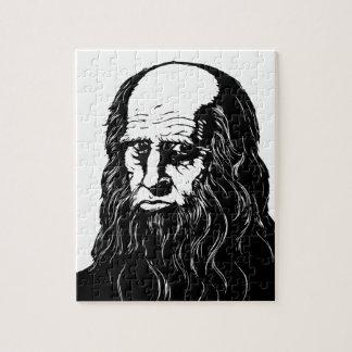 Leonardo da Vinci - portret Puzzel