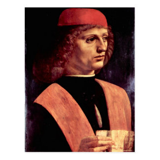 Leonardo da Vinci - Portret van een musicus Briefkaart