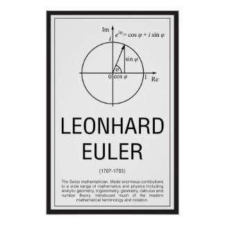 Leonhard Euler Poster