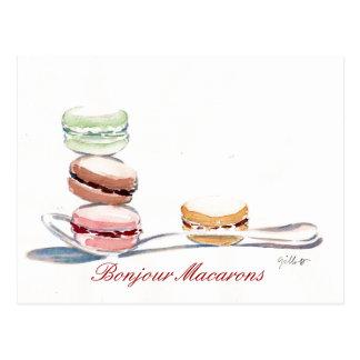Lepel van Macarons Briefkaart