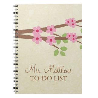 Leraar om het Notitieboekje van de Lijst te doen - Notitieboek
