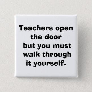 leraar vierkante button 5,1 cm