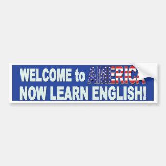 Leren-Engels-blauw Bumpersticker