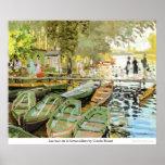 Les bain DE La Grenouillere door Claude Monet Poster