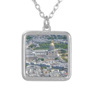 Les Invalides in Parijs, Frankrijk Zilver Vergulden Ketting
