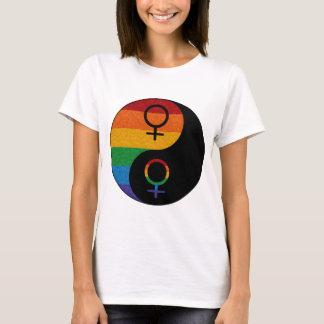Lesbische Trots Yin en Yang T Shirt