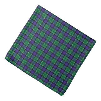 Leslie Clan Hunting Tartan Green en Blauwe Plaid Bandana