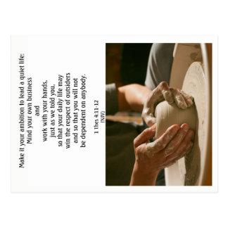 Let op Uw Eigen Zaken en Werk met Uw Handen 3 Briefkaart