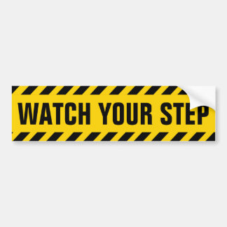 Let op Uw Teken van de Voorzichtigheid van de Stap Bumpersticker
