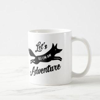 Let's Go On An Adventure White Mug Koffiemok