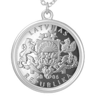 Letse zilveren juwelen met Lats Ketting Rond Hangertje