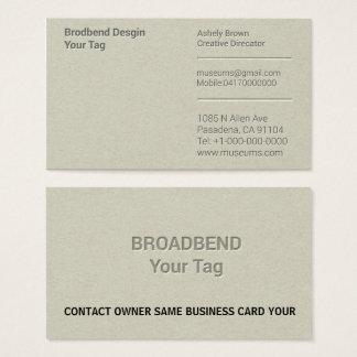 Letterzetsel Eenvoudige Business Man Company Visitekaartjes
