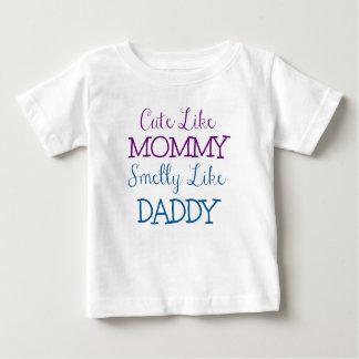 Leuk als Mama Stinkend als Papa Baby T Shirts