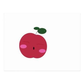 🍎 leuk Apple ~ かわいいりんご. Briefkaart